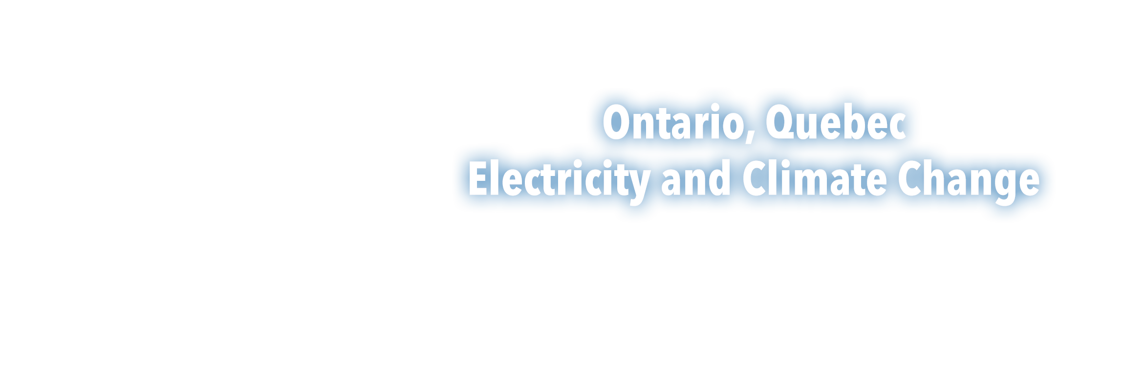 Ontario Electricity and Climate Change